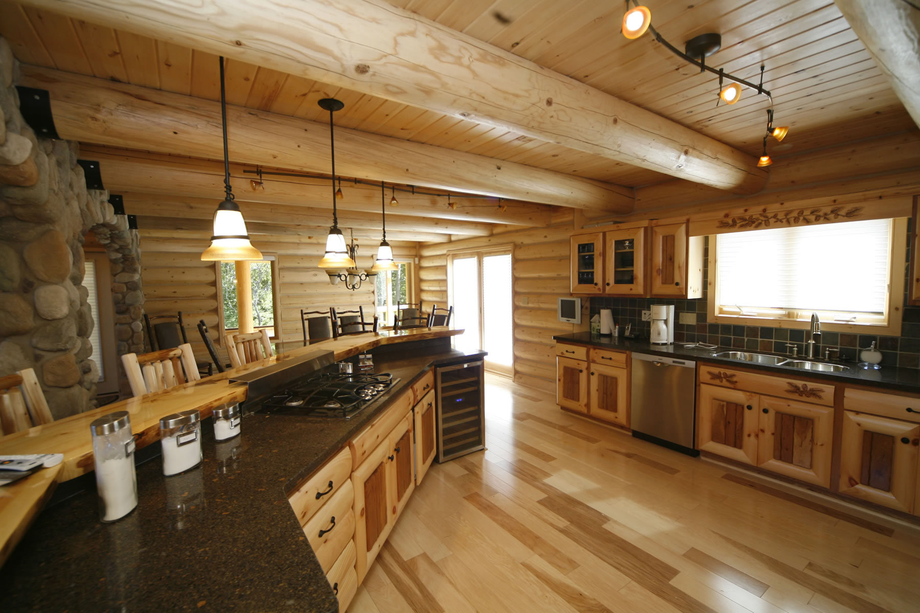 Whisper Creek Log Homes Oke Woodsmith Building Systems Inc Home Wiring