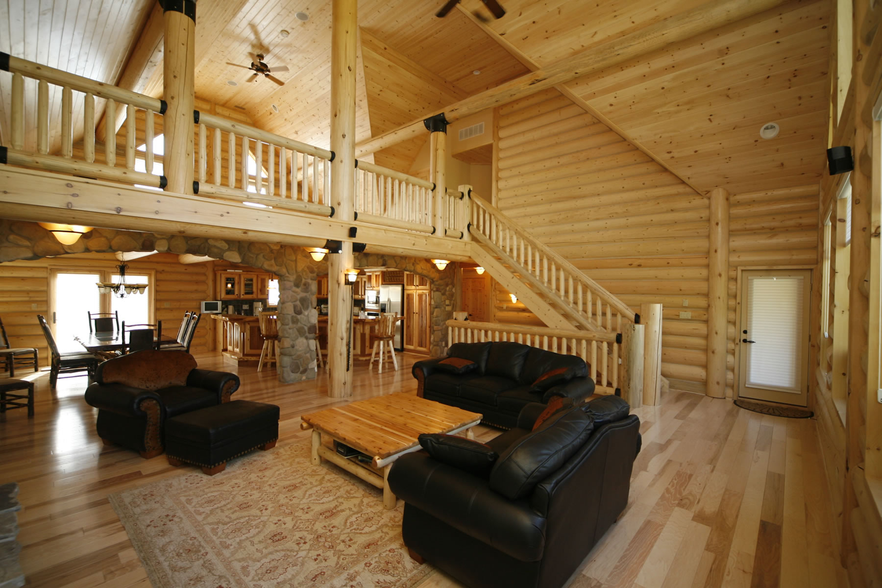 Whisper creek log homes oke woodsmith building systems inc for House inside images