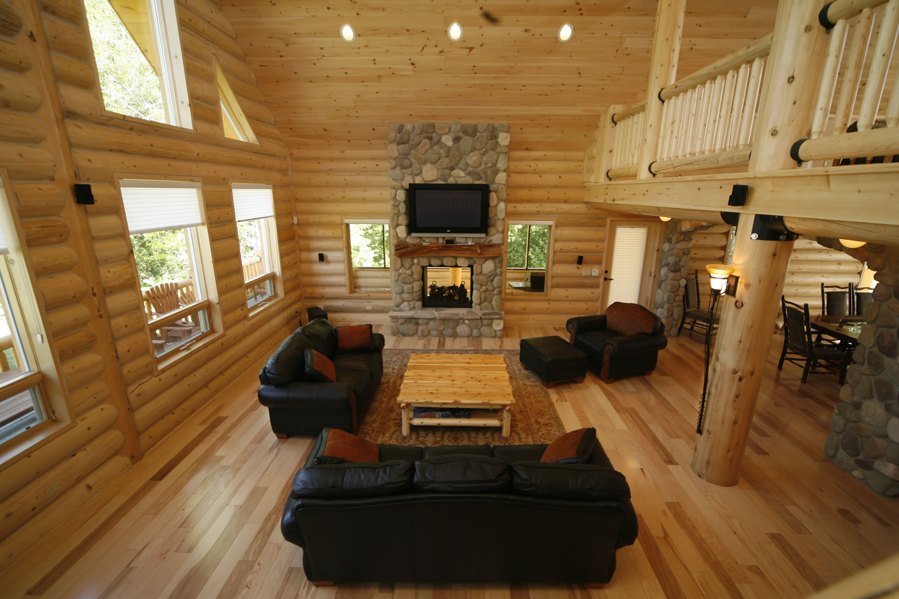 Whisper creek log homes oke woodsmith building systems inc for Creek house