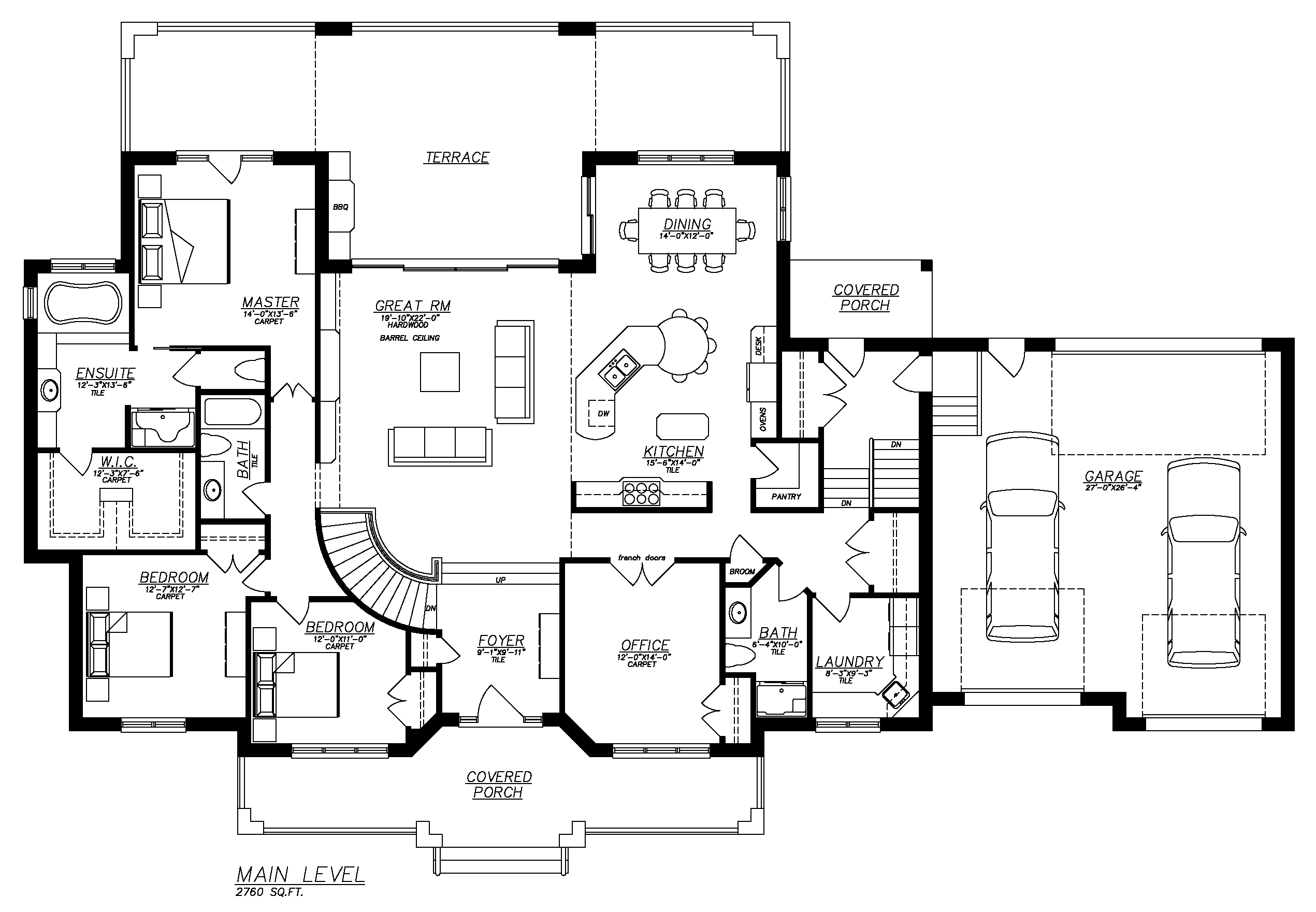 Stinson s gables oke woodsmith building systems inc for One level house plans with basement